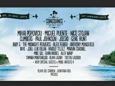 COINCIDANCE SECRET BEACH FESTIVAL | NYE 2014 – 2015 | PLAYA DEL CARMEN, MEXICO