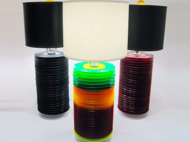 Old Vinyl Records Transformed Into Chic Lamps After the Music Stops