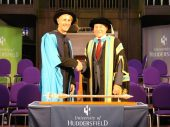 Richie Hawtin received an honorary Doctorate from the University of Huddersfield for the Outstanding Contribution to the Contribution to the world of music technology
