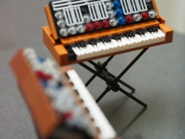Ok, we admit, we are probably a little old for these, but doesn't stop us wanting to build your own Lego Minimoog Synthesizers