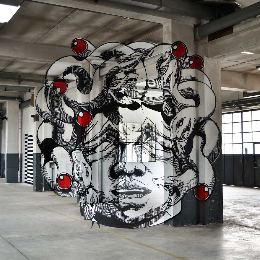 Anamorphic D Graffiti By Truly Design Transforms An