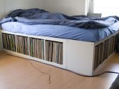 Not enough space in your bedroom to sleep and store your vinyl at the same time?, we may have the solution for you