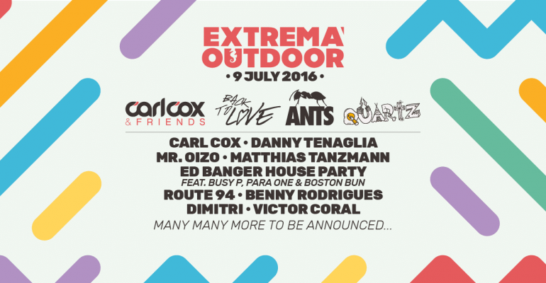 Extrema Outdoor reveal full lineup with Carl Cox, Loco Dice, John Digweed, Mr. Oizo, Kölsch, Matthias Tanzmann, Tensnake and many more