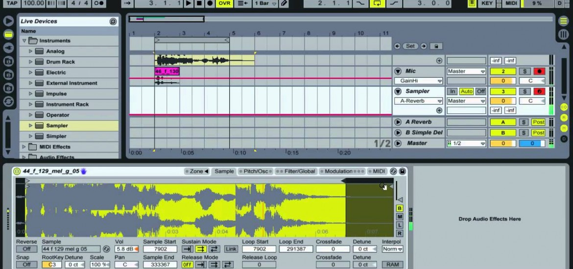 Audio warping in drum racks with sampler ableton live cheats #1.