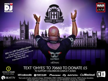 Carl Cox teams up global music industry charity Last Night a DJ Saved my Life to support War Child