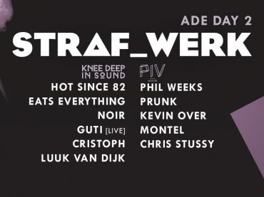 STRAF_WERK announces her ADE line up. For the first time in history the program contains not just one, but two hosted nights.