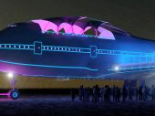 A converted 747 jet to showcase at Burning Man Black Rock desert