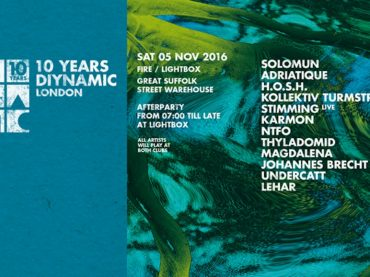 Solomun, H.O.S.H. and the whole Diynamic family head to London for a final birthday party extravaganza