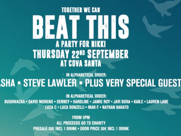 Steve Lawler, Sasha and more play a one-off charity event today at Santa Cova, Ibiza