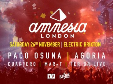 Paco Osuna and Agoria headline for Amnesia London