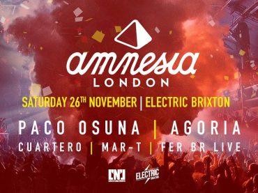 Paco Osuna and Agoria headline for Amnesia London
