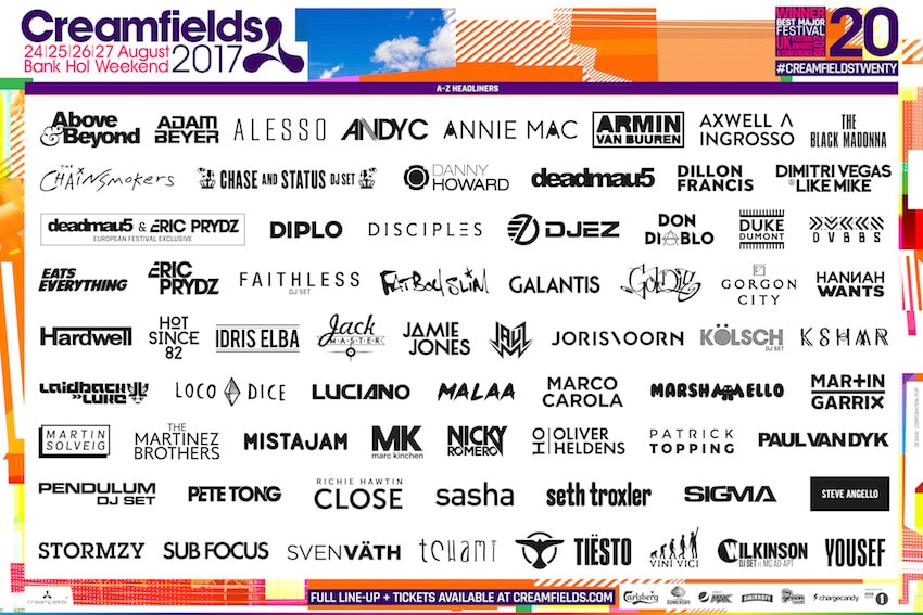Creamfields announce their lineup for 2017 - Decoded Magazine