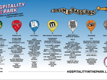 Roni Size Live, Etherwood, Alix Perez & Eprom, Audio, Black Sun Empire, LSB + many more announced for Hospitality in the Park