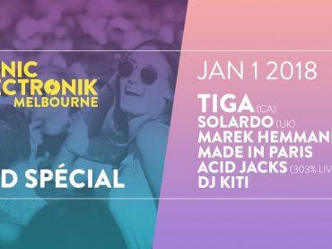 Piknic Electronik Melbourne NYD Special featuring TIGA, Solardo, Marek Hemmann and more