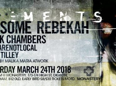 Rebekah announces the next Elements showcase in Birmingham with Ansome, Rebekah, Dark Chambers and more