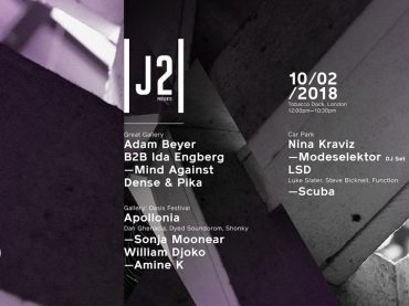 Adam Beyer b2b Ida Engberg and Apollonia complete lineup for Junction 2 presents at Tobacco Dock London