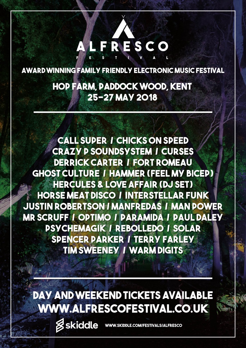 Alfresco Festival 2018 completes line-up with Derrick Carter