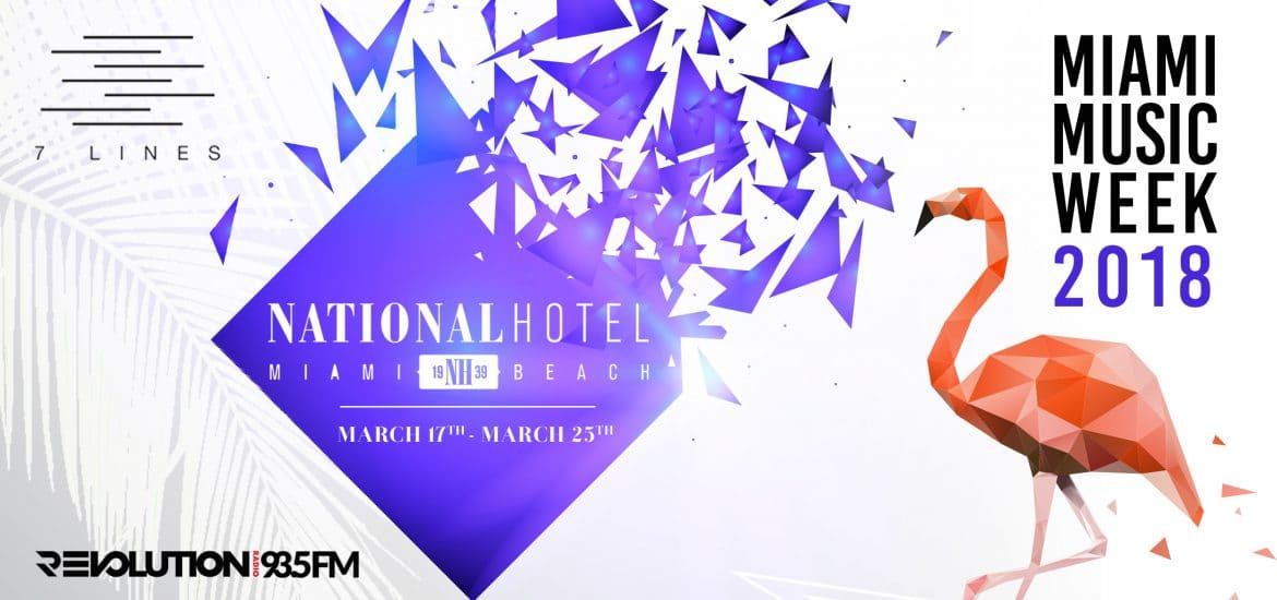 National Hotel announce pool parties for Miami Music Week