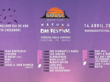 Fifth edition of Warung Day Festival announces set times and full line-up with Sasha & Digweed, Guy J, Renato Ratier, Victor Ruiz and more