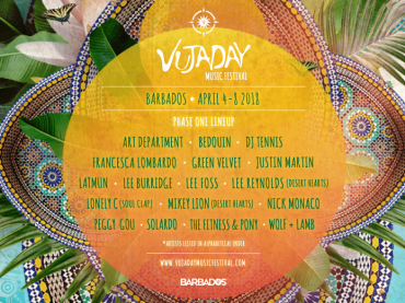 Vujaday Festival set for Barbados April 4th – 8th
