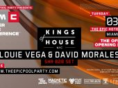 Kings of House NYC – Louie Vega & David Morales – announced for official WMC opening party on Tuesday March 26th