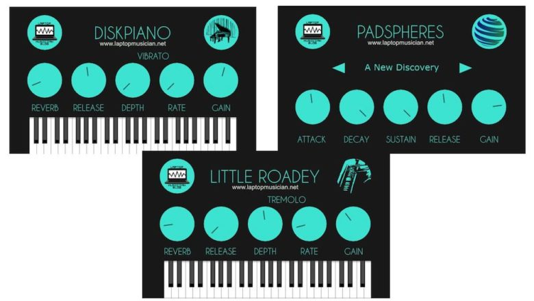Laptop Musician Blog releases free acoustic piano, electric piano, and pad plugins