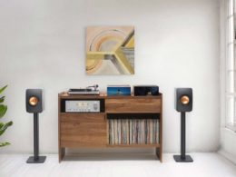The Unison Record Stand – an all-in-one solution for vinyl record storage and playback