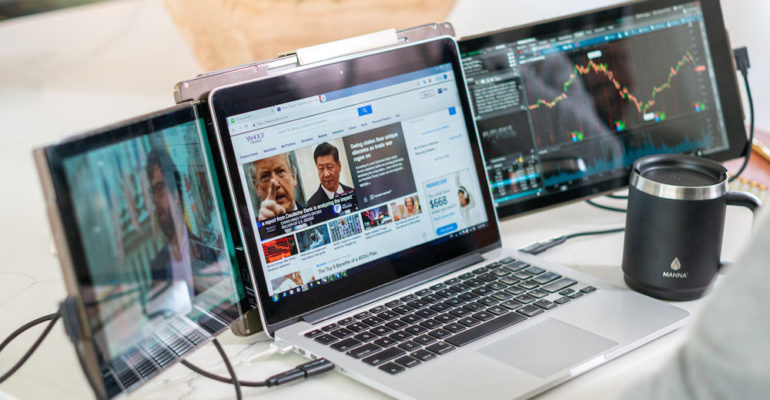 The Trio Monitor turns your laptop into a 3-way display
