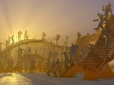 Alex Haw designs a timber pavilion for use at Burning Man