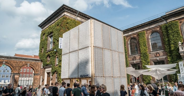 A bar made out of old IKEA mattresses wins architecture prize