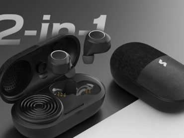 The 2-In-1 Music Pill is an innovative take on the earbuds and a Bluetooth speaker