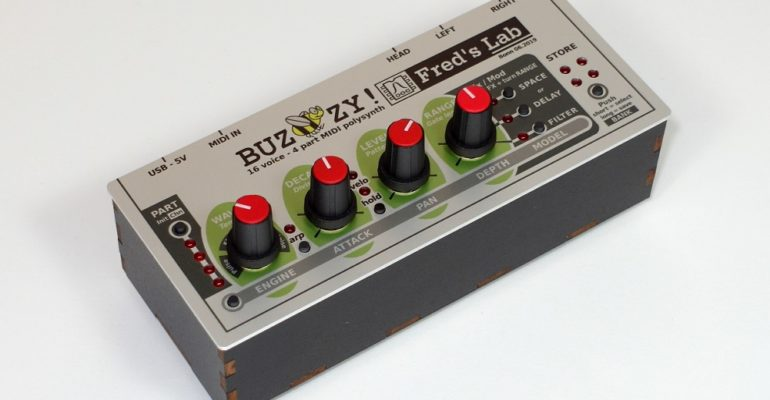 The Buzzzy! pocket sized digital polysynth is now available for order