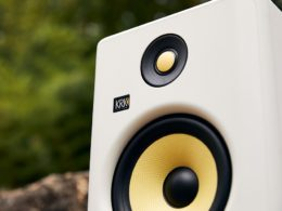 KRK has unveiled the new Rokit G4 'White Noise' studio monitor in a limited edition white finish